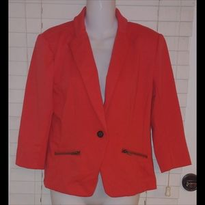 Christian Siriano runway style coral blazer